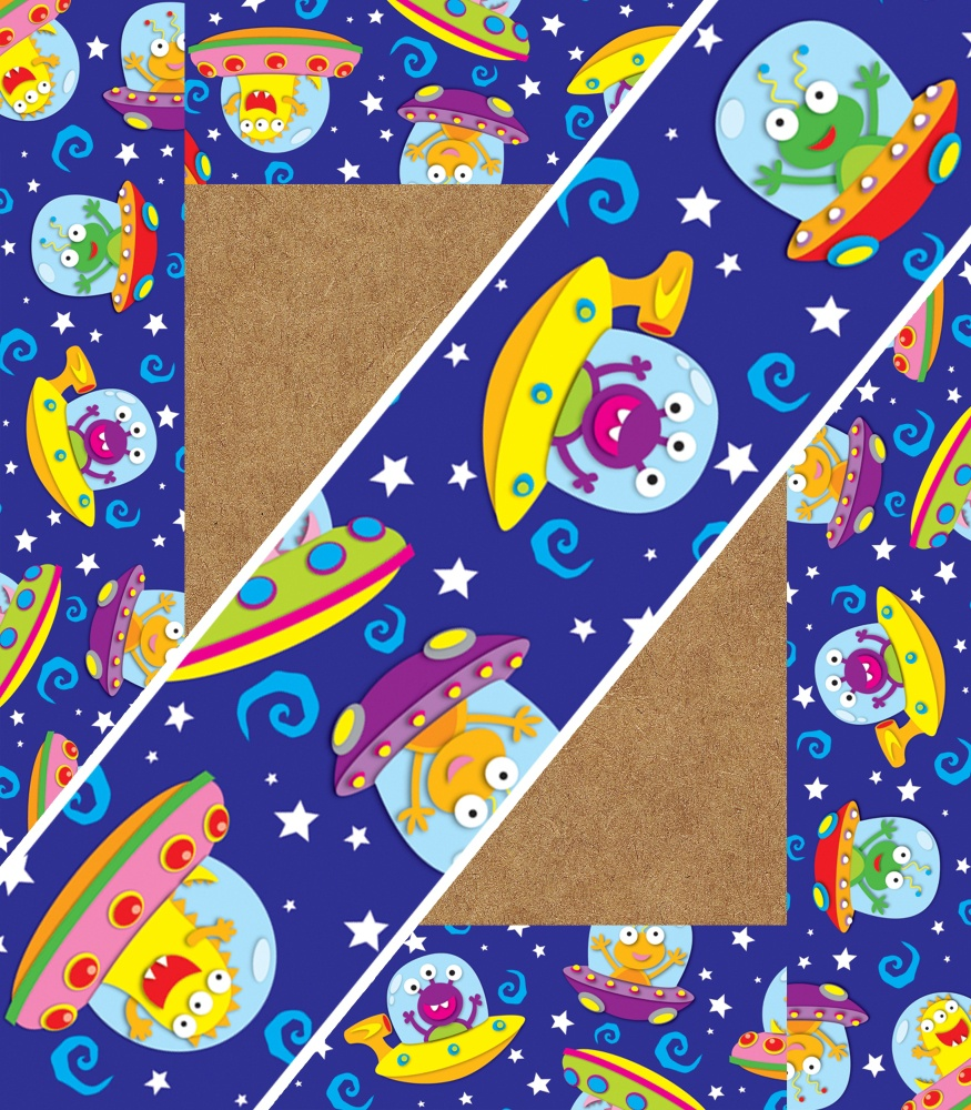 Out of this world straight borders promoni 39 s for Space themed material