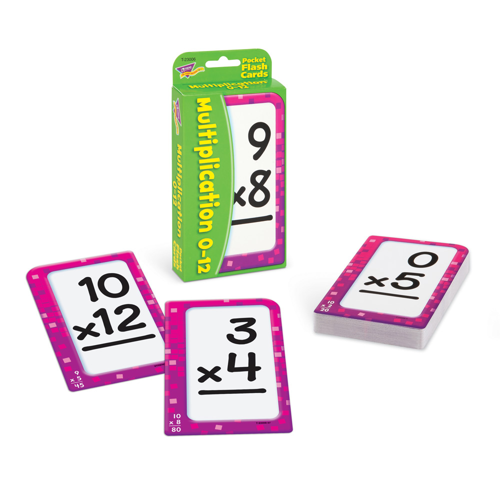 photo about Printable Addition Flash Cards 0-12 known as Multiplication 0-12 Pocket Flash Playing cards