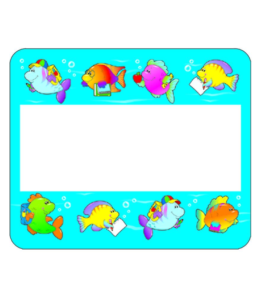 School Of Fish Name Tags 40 Name Tags Promoni S